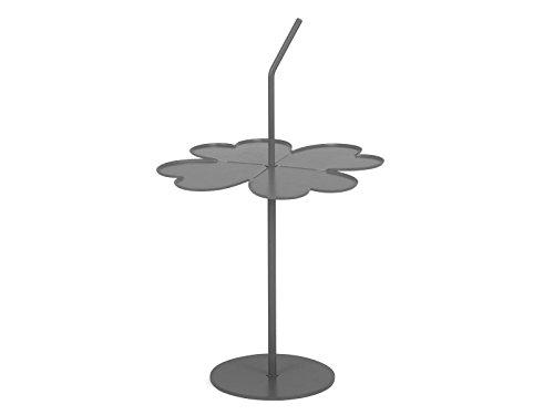 GARAGEEIGHT A Four Leaf Clover Beistelltisch, Metall, Grau, 40 x 40 x 44/73 cm