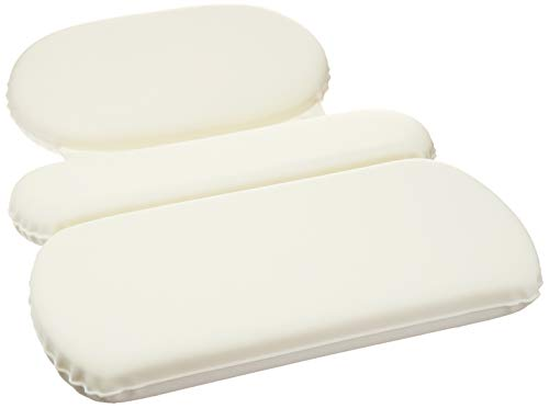 AmazonBasics Bath Tub Neck Pillow with Suction Cups, Waterproof, 3 Panel