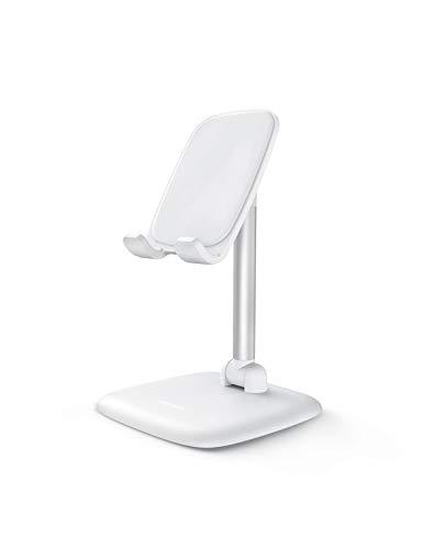 UGREEN Handy Ständer Handy Halter Verstellbar Handyständer für Tisch Handyhalterung Smartphone Ständer Klappbar kompatibel mit iPhone 11 Pro Max XS XR, Galaxy S10 A50, Huawei P30 4,7-7,9\'\' (Weiß)