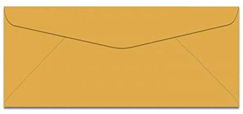 Earthchoice Goldenrod No 10 (4-1/8-x-9-1/2) Envelopes 500-pk - 089 GSM (24/60lb Text) PaperPapers Holds Letter Paper Folded 3-Way Econo Standard #10, Professional and DIY Business Envelopes