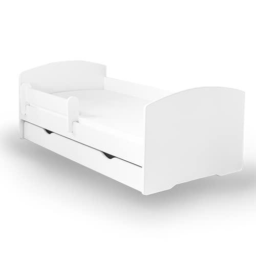 Alcube Kinderbett mit Rausfallschutz, Matratze und Schublade als Set, Bett für Jungen und Mädchen...