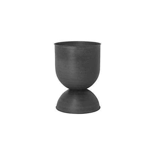 Ferm Living - Hourglass bloempot medium, Ø 41 x H 59 cm, zwart/donkergrijs