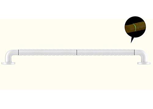 WEBO Home- Badezimmer Sicherheit Handläufe Barrierefreies WC WC Griff Toilette Rutschfeste Geländer Edelstahl Behinderte Ältere Handicapped -Badezimmer-Handlauf (Farbe : Weiß, größe : 880mm)