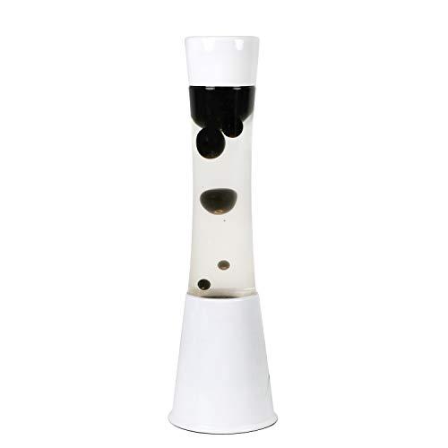 i-total XL1752 Lámpara Grande de Lava Magma Lámpara de Lava Original Metal Blanca cera colores. (Transparente/Negro)