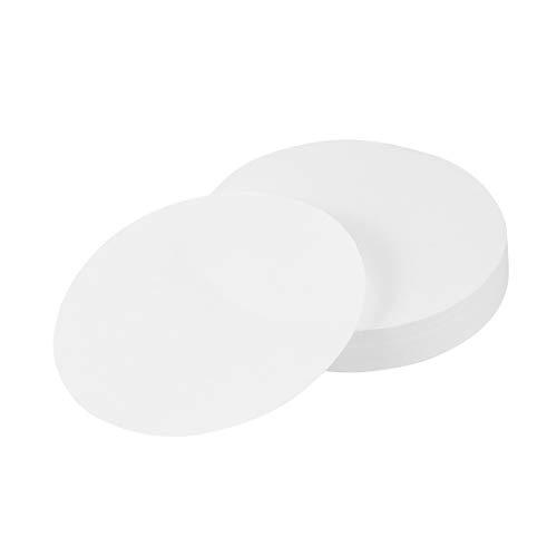 Hemobllo Filterpapier Qualitativ Runde Mittelvolumenstrom Durchflussgeschwindigkeit Filterpapier 100 Stück 11cm (Weiß)