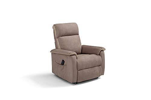 Manhattan Poltrona Relax elettrica 2 Motori con reclinazione Schiena/Gambe indipendenti per Posizione TV alzapersona con Sistema Roller e Memory su Seduta. Braccioli estraibili.