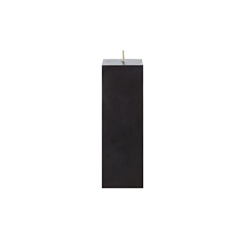 Mega Candles Unscented Black Square Pillar Candle | Hand Poured Premium Wax Candles 2' x 6' | For Home Décor, Wedding Receptions, Baby Showers, Birthdays, Celebrations, Party Favors & More