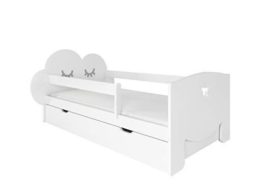 NeedSleep - Cama infantil completa (80 x 160 cm) con protección anticaídas, 80 x 140 cm, 80 x 160 cm, somier de láminas, cajón, para niños a partir de 2 años, para niñas y jóvenes, Montessori