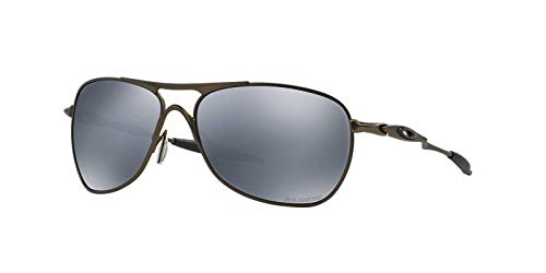 Oakley Mens Crosshair Sunglasses (OO6014) Gunmetal/Grey Titanium - Polarized - 61mm