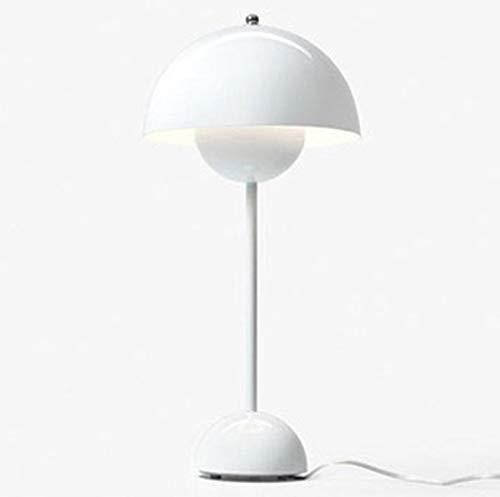 OUYA Flower Bud Lámpara de Mesa Artística Moderna LED Luz cálida Lámparas de Mesa de Noche para Dormitorio Sala de Estar Escritura Lectura Café Bar - Bombilla E27,Blanco,White Light