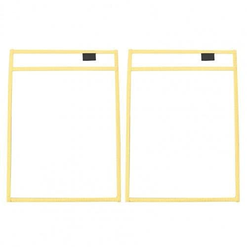 ZJF Cancellabile PVC. Cartella Trasparente File stoccaggio Sacchetto di File Sacchetto di File Valigetta Tappeto Busta File 1pc (Color : Yellow)