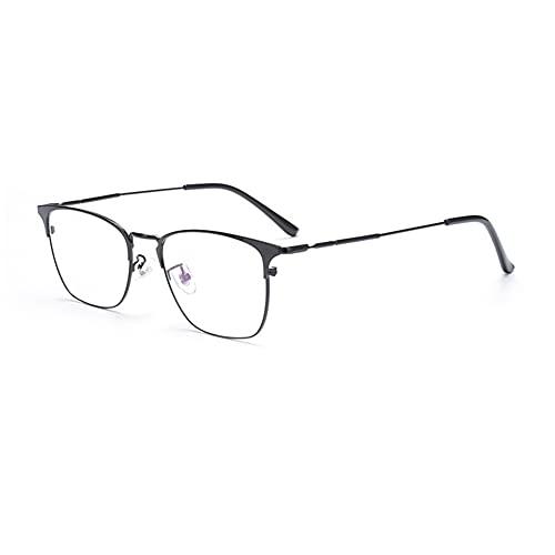 EYEphd Gafas de Lectura fotocrómica multifocal progresiva al Aire Libre de los Hombres, 1,56 Gafas de Sol de Metal de Lente de Resina asférica / UV400 Ampliación +1.0 a +3.0,Negro,+2.5