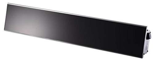 Heizstrahler RELAX GLASS 1500 Watt von Burda, [Gehäusefarbe]:Schwarz - Silbernes Gehäuse
