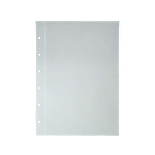 10x Stammbuchhüllen für Urkundenformat (130x200mm) Transparente Klarsichthüllen Prospekthüllen mit 6-Fach Lochung für Stammbücher