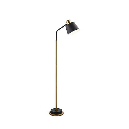 MUZILIZIYU Lámpara Alta lámpara de pie Lámpara de pie Moderna Lámparas de pie para Sala de Estar con lámpara de Sombra para Oficina, Dormitorio, Sala de Estar lámpara de pie (Color : Black)