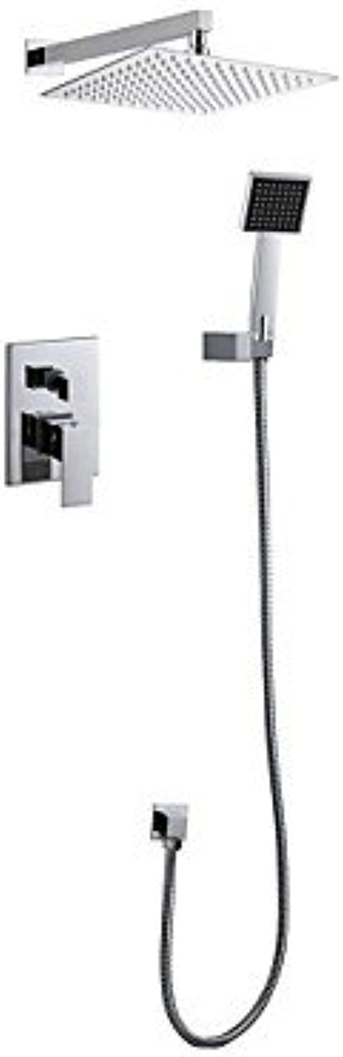 ZYT Ceramic valve that came with both cloudy and clear shower handles contemporary wall mounted five-hole Chrome, Shower Mixer