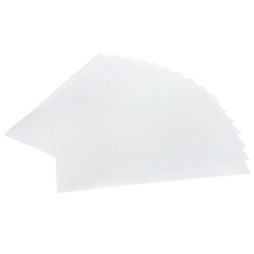 Kit de hojas termorretráctiles de 10 piezas, película retráctil luminosa semitransparente para decoración colgante de llavero de papel DIY