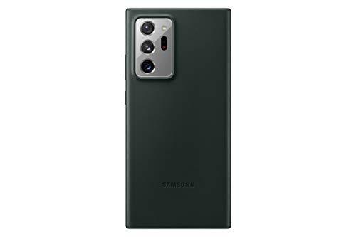Samsung Leather Smartphone Cover EF-VN985 für Galaxy Note20 Ultra 5G Handy-Hülle, echtes Leder, Schutz Hülle, stoßfest, premium, grün