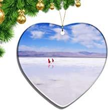 Kysd43Mill - Adornos navideños de cerámica con Forma de corazón de torrevieja de Lago de la Sal de España