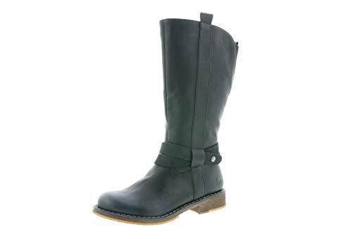 Rieker Damen Stiefel, Frauen Klassische Stiefel, reißverschluss weiblich Lady Ladies feminin elegant Women's,schwarz,39 EU / 6 UK