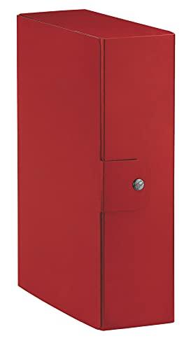 Esselte Eurobox, Cartella Progetti, Formato A4, Dorso 10 Cm, Rosso, 1 Pezzo