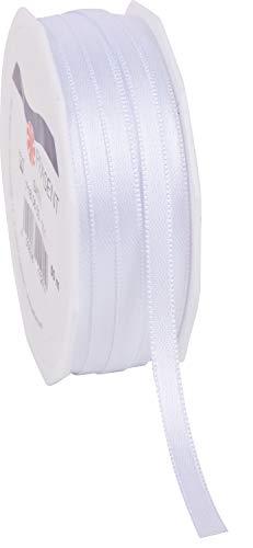 C.E. Pattberg Satin Noir, Rouleau de 50 m de Ruban Satinée pour Emballage Cadeau, Largeur 6 mm, Accessoire de Décoration et Bricolage, Ruban Décoratif pour Présents, en Toute Occasion