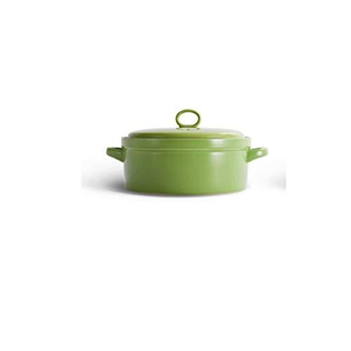 CUJUX Casserole - Faitout Faitout Haute température Résistance Céramique marmite à Soupe Casserole (Color : Green)
