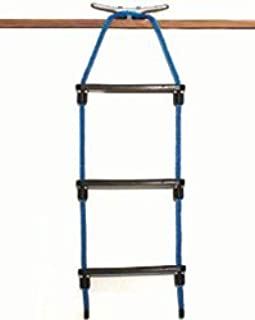 Three Step Rope Ladder - Choose from Black, Blue, or White (Black)