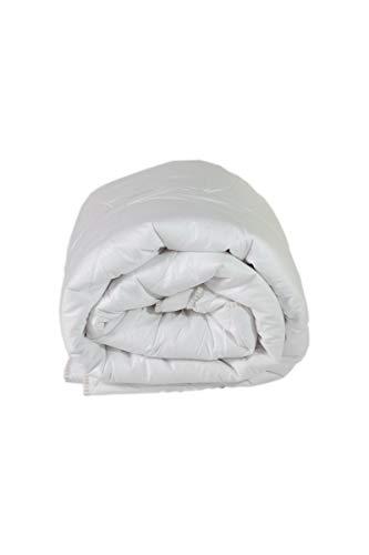 Espritzen - Couette Hiver chaudeDouce - Taille : 260x240 cm - Tencel Coton Bioflor - Naturelle et végétale - Blanc
