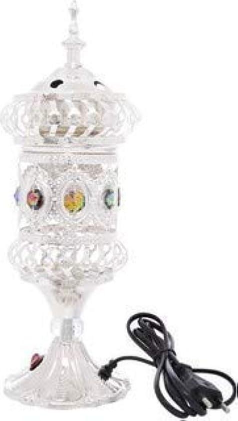 成長普遍的なダイヤルOMG-Deal Electric Bakhoor Burner Electric Incense Burner +Camphor- Oud Resin Frankincense Camphor for Diwali Gift Positive Energy-WF-075 Silver