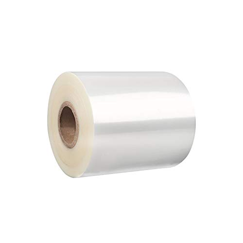 MHUI Pallet Stretch Shrink Wrap Clear of Heavy Duty Packaging Cling Film Shrink Plastic for Moving House,7cmX220m(2Pcs)