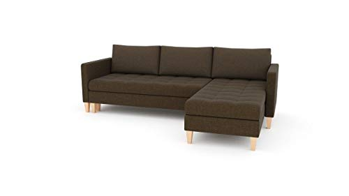 Sofini Ecksofa Oslo mit Schlaffunktion! Best Ecksofa! Couch mit Bettkästen! (Lux 12 Rechts)