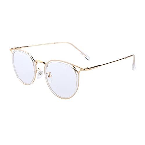 Aoliao Gafas de bloqueo de luz azul lindo anti ojo tensión moda marco de metal gafas para lectura juego computadora