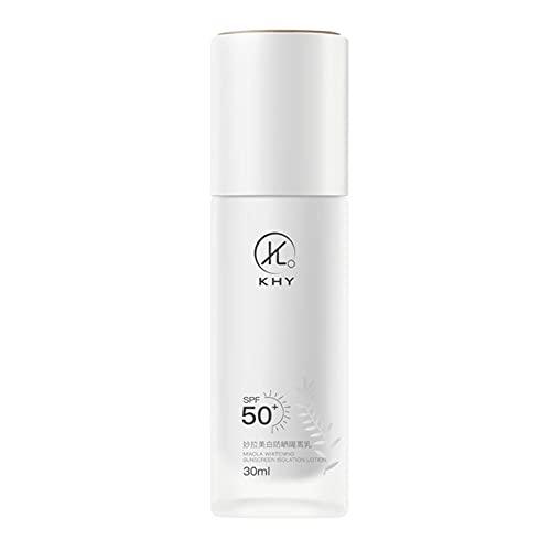 Crema De Protección Solar De 30 Ml Lsf 50 Crema Facial Anti-ultravioleta Cosmética Natural Crema De Protección Solar De Larga Duración Segura Crema Solar Sin Perfume Adecuada Para Pieles Sensibles