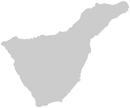Samunshi® Teneriffa Aufkleber Insel in 7 Größen und 25 Farben (10x8,3cm silbermetalleffekt)