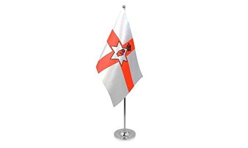 AZ FLAG Bandera de Mesa Irlanda del Norte 22x15cm en Raso - BANDEROLA de DESPACHO NORIRLANDESA 15 x 22 cm