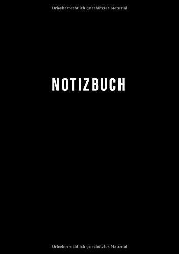 NOTIZBUCH A5 KARIERT: 110 Seiten ohne Rand | ganzseitig kariertes Papier | Perfekt als Journal, Notizheft, Tagebuch, Schulheft, Logbuch | Schlicht Schwarz
