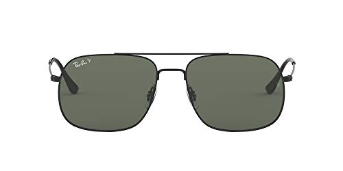Ray-Ban 0RB3595 Gafas de Sol, Rubber Black, 59 Unisex
