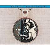 Collar con colgante con texto en inglés'I'm a Senderismo Pup', regalo para excursionistas, amantes...