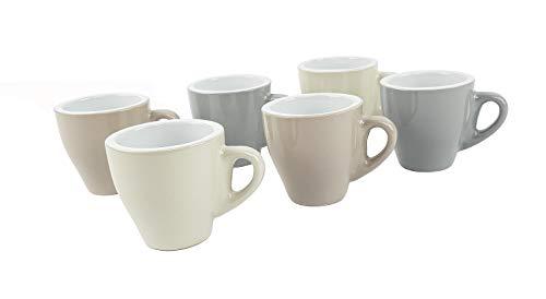 BuyStar Set 6 tazzine Tazze da caffè in Ceramica | Servizio da caffè | Bicchierini Espresso tazzina caffè Coffee Espresso, Assortito