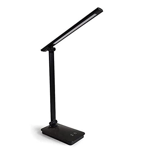 WYMD Lámpara de Escritorio LED Multifuncional, lámpara de Oficina, portátil y Ajustable, protección de Ojos Azules, Adecuada para Oficina, Estudio y Trabajo,Negro