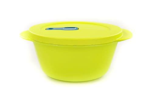 TUPPERWARE CrystalWave Rotondo bowl 800 ml giallo verde