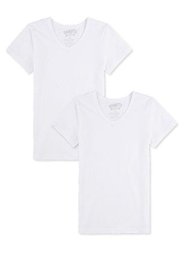 Sanetta Jungen Unterhemd im Doppelpack - weiß (01), 176