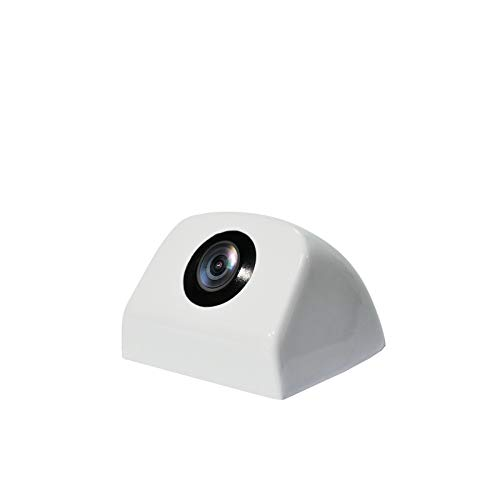 PARKVISION Camara Trasera de Coche,12-24V Amplio Voltaje con una tecla para Cambiar imágenes, Camara Delantera Montaje Flexible en posición Trasera o Frontal o descentrada(versión Avanzada) [PRO109]