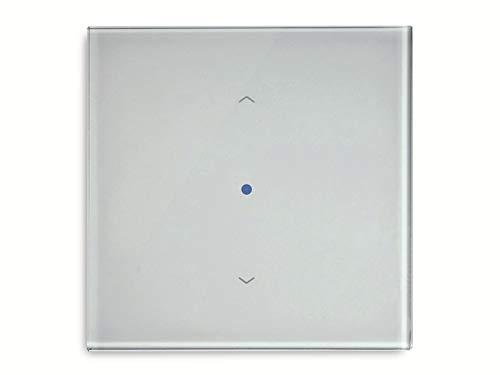 Funk-Wandsender Kaiser Nienhaus Glas-Wandsender Plano 1, Farbe: weiß, 433MHz bidirektional 135200 433 MHz