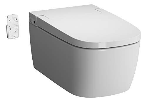 VitrA V-care 1.1 Comfort V-Care WC suspendu sans rebord avec fonction enfant et fonction...