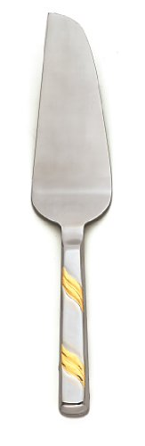 Alegacy 118PSGD Stainless Steel Goldcrest Pie Server with Gold Trim, 11-Inch