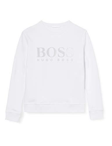BOSS Womens Tagrace Sweatshirt, White (100), L