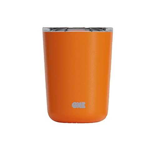 Taza de viaje de acero inoxidable, mini taza, taza de café aislada al vacío BPA (con tapa), portátil de doble capa, puede mantenerse caliente durante 12 horas, regalo de cumpleaños ( Color : O