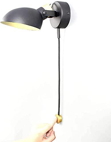 Waqihreu Aplique de Pared LED Regulable 3000~6300K 5W,con Interruptor táctil Lámpara de Noche Lámpara de Pared,180 & deg;Cabezal de lámpara Ajustable,Dormitorio de Sala de Estar con luz de Lectura